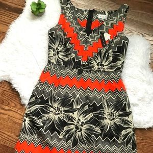 Milly orange and black dress